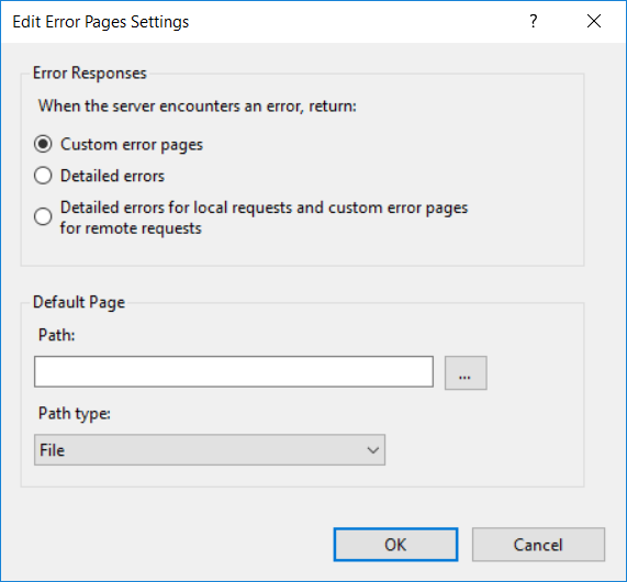 IIS HTTP Redirect Problems:  IIS Custom Error Pages
